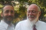 Gaby Jansenson with Rabbi Sam Kassin